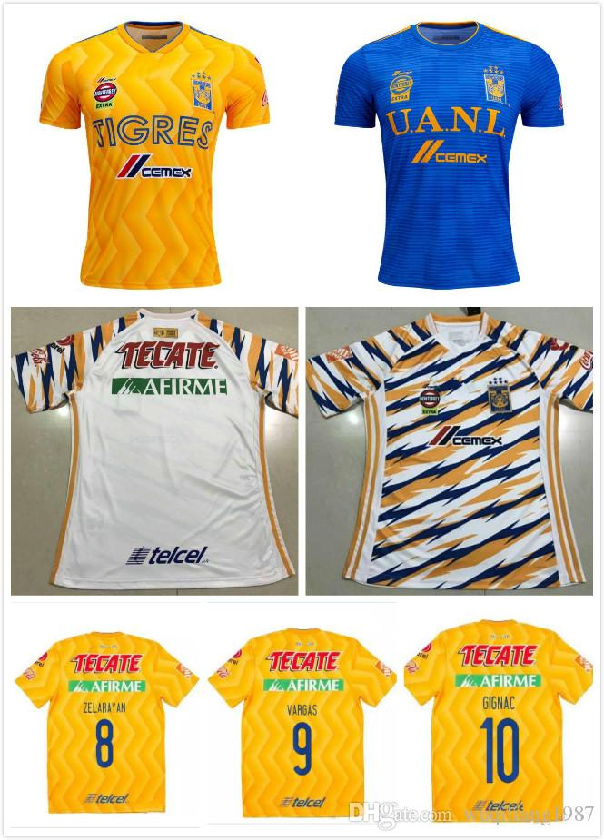 2019 2018 2019 Tigres UANL Soccer Jerseys Best Quality Men Kit 18 19 Mexico  Club Maillot De Foot Home Away 3rd 6 Star GIGNAC Football Shirts From ... 2e103f46a