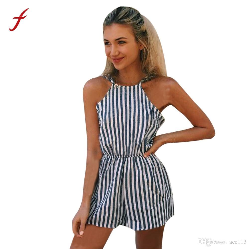Jumpsuits Modest Womens Spring Holiday Sleeveless Beach Long Ladies Long Jumpsuit