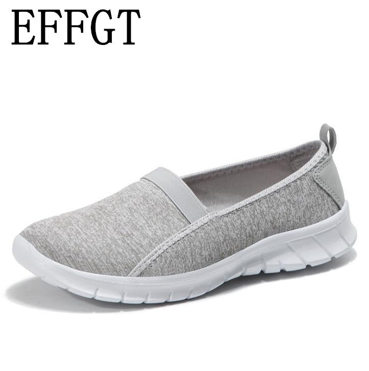 EFFGT Fashion 2019 Casual Shoes Woman Comfortable Breathable Mesh ... 0db2162bb21d