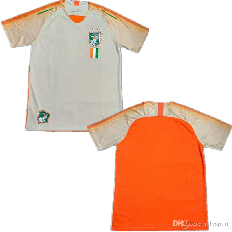 f99c2d89d 2019 2019 Ivory Coast National Football Team Soccer Jerseys Home White  Orange  12 Abdoulaye Meite  13 Giovanni Sio  15 Gladel Football Jerseys  From Lvsport