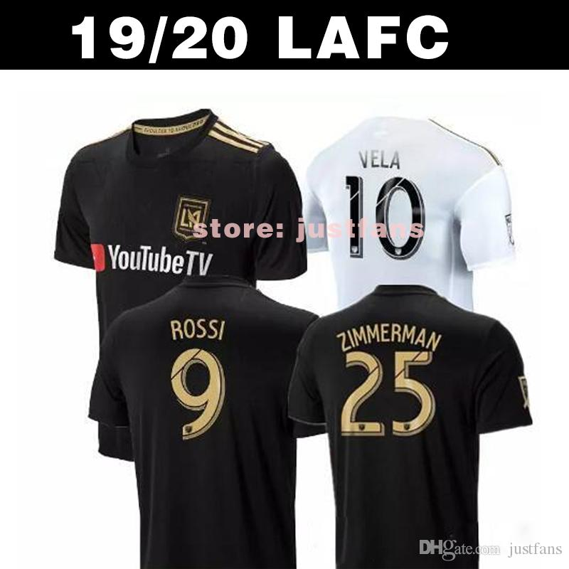 huge discount 96d3d fc254 2019 LAFC Carlos Vela Soccer Jerseys 19 20 GABER ROSSI CIMAN ZIMMERMAN home  away Football Shirt special edition black size S-XXL