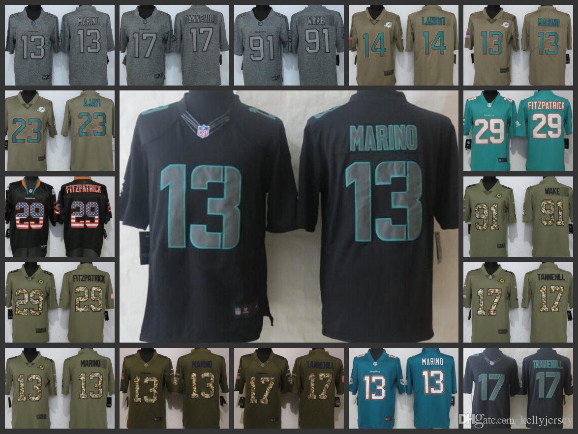 new product bdcfc 87fa7 Miami Men Dolphins Limited Women Youth jersey #17 Ryan Tannehill 13 Dan  Marino 14 Jarvis Landry 29 Minkah Fitzpatrick Embroidery jerseys