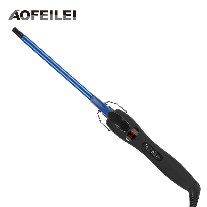 Aofeilei New Arrival Professional 9mm Iron Hair Waver Pear Flower Cone Electric Curling Wand Roller Styling ToolsMX190821