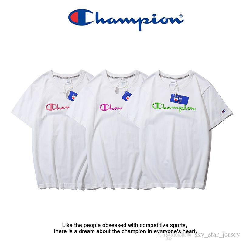stable quality buy great variety styles champions white tee colored logo blank t fashion designers t shirts trend  for men and women