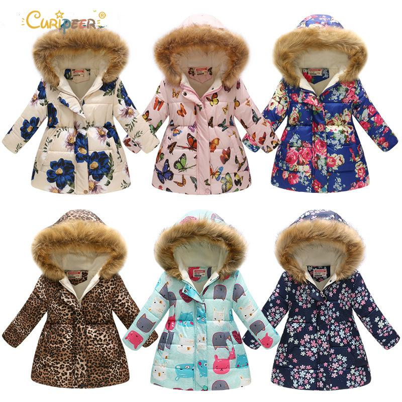 e4533242d754 Winter Girls Jackets Children Outerwear Teenager Windbreaker Parkas ...