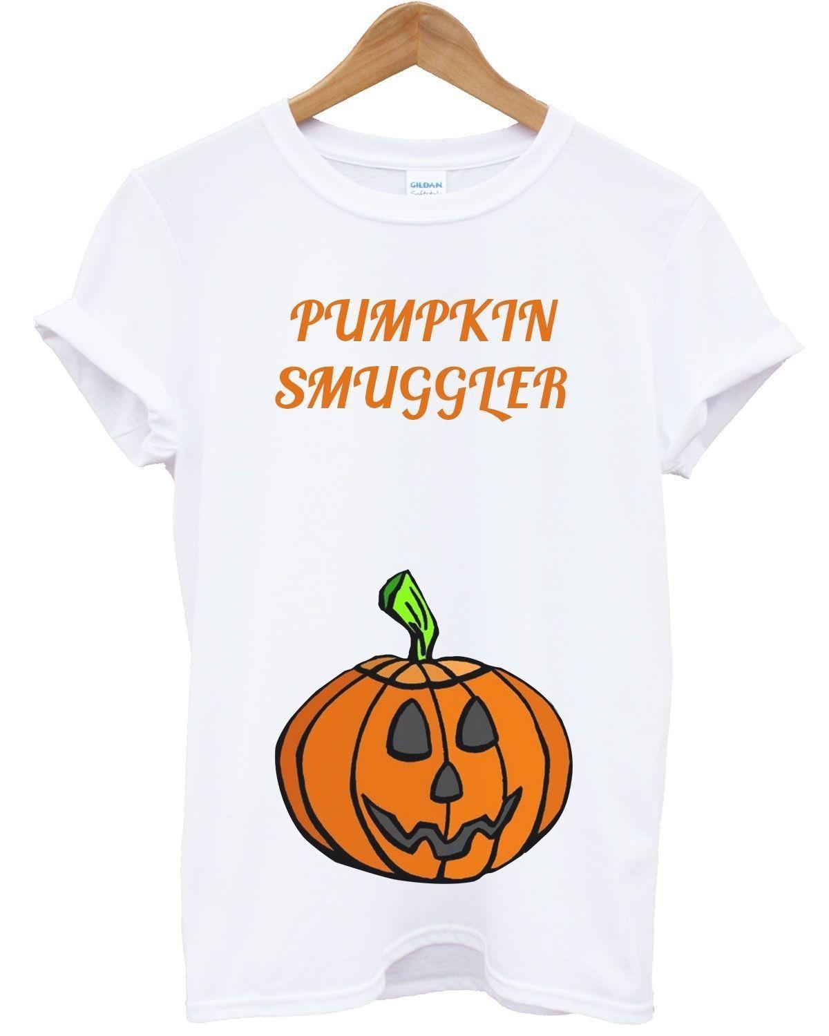 a2dfd41ae303e Pumpkin Smuggler T Shirt Halloween Pregnant Funny Baby Twins Outfit  CostumeMens 2018 Fashion Brand T Shirt O Neck 100% But T Shirts T Shirts  Funky From ...