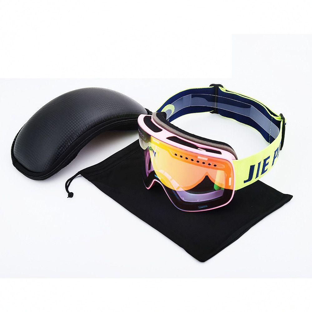 cacd654398bc Ski Goggles Men Women UV400 Anti-fog Skiing Eyewear Snow Glasses ...