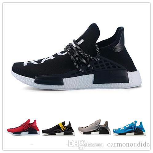 brand new 5de00 bd816 2018 New NMD Human Race trail Running Shoes Men Women Pharrell Williams NMD  Runner Shoes Yellow noble ink core Black White Red Sneaker