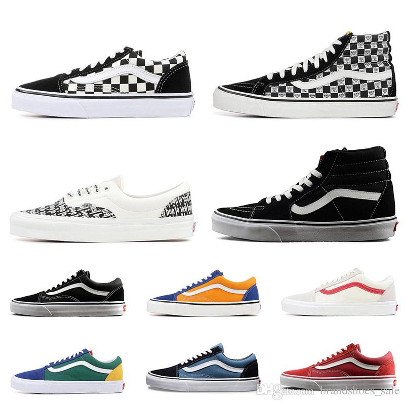 3247cfca11d 2019 Wholesale Vans Old Skool Sk8 Fear Of God Hi Men Women Canvas Sneakers  Black White YACHT CLUB MARSHMALLOW Fashion Skate Shoes From  Brandshoes sale