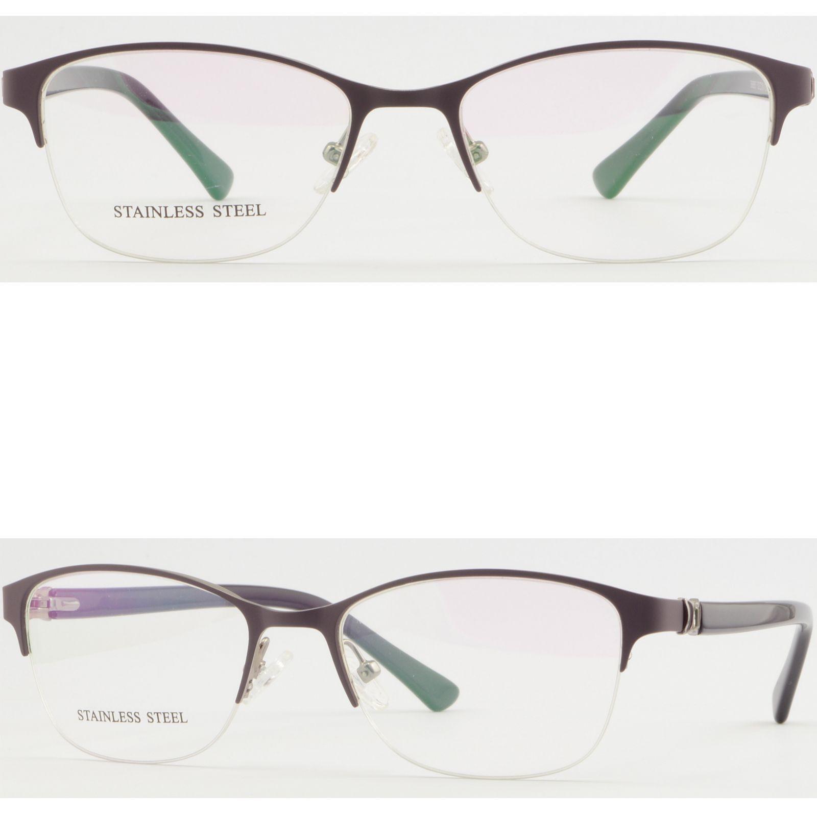 4c77380ff552 Half Rim Womens Metal Frame Purple Prescription Glasses Eyeglasses Spring  Hinges Small Eyeglass Frames Sunglasses Frame From Aceglasses