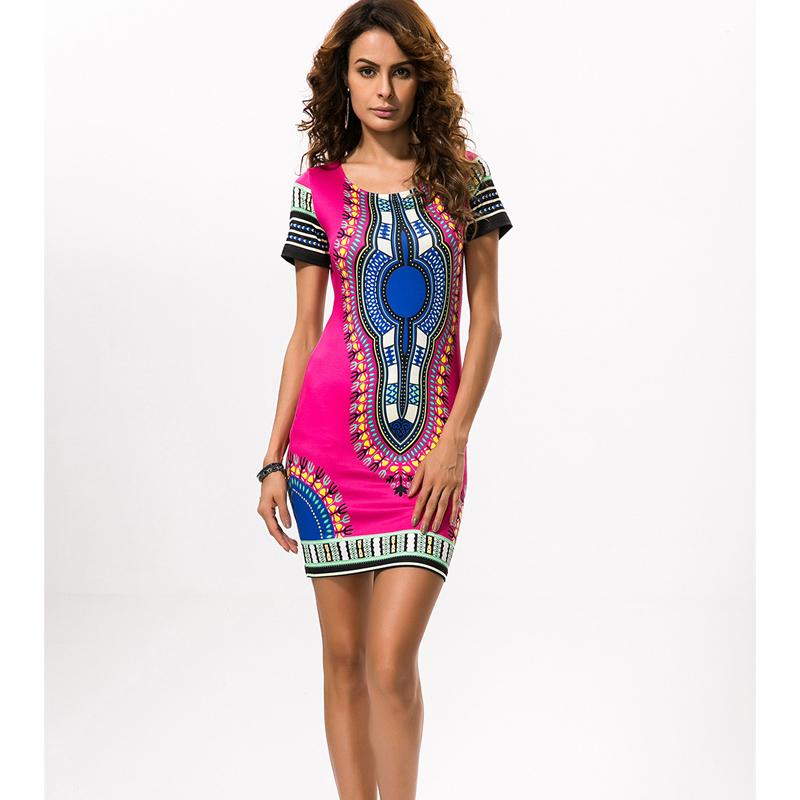 01cfef26e2f 2018 African Print Dresses For Women Africa Clothing Traditional Dashiki Dresses  Fashion Designs Plus Size Dress Female 2XL 3XL White Cocktail Party Dress  ...