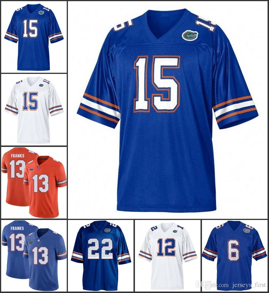 buy popular 645d3 3af0c NCAA Florida Gators#1 Jeff Demps #6 Jeff Driskel #12 John Brantley #13  Franks #15 Tim Tebow #22 Emmitt Smith #28 Jeff Jersey
