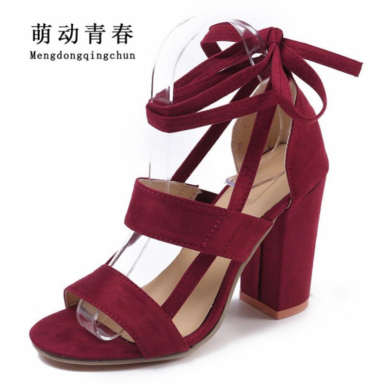 c0566d0949c0 Dress 2019 Women Pumps Fashion Peep Toe Square Heels High Heels Shoes Women  Lace Up Ankle Strap Summer High Heels Sandals Plus Size Mens Sandals Mens  ...