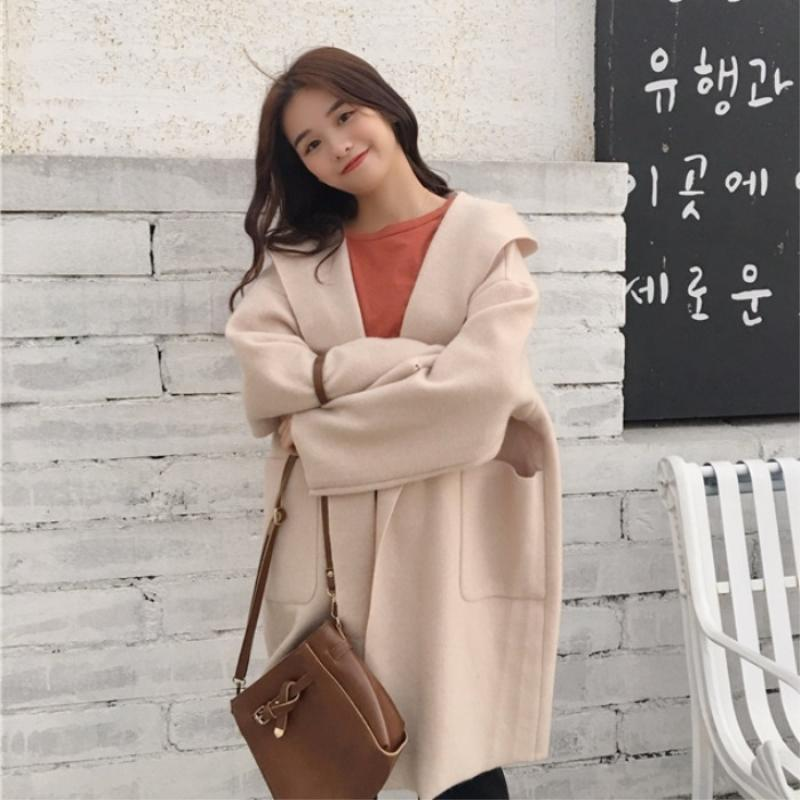 Kleding Winter Dames Invierno Automne From Women Clothes Mujer 2018 Femme Vikey18 Wool Autumn Abrigos Coat Manteau Oversize Kimono Ladies wxYR1YHqI