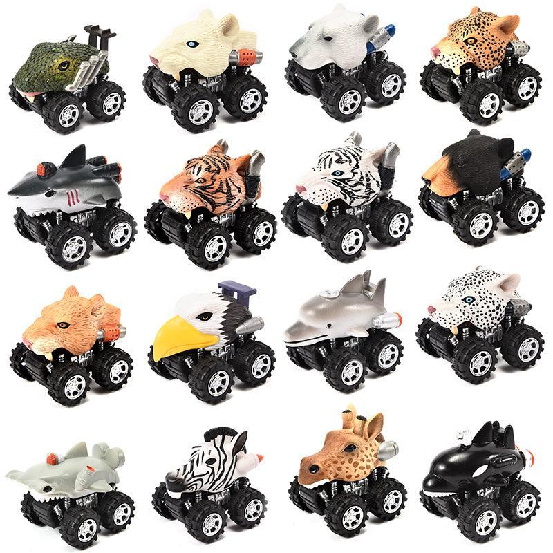 Incroyable Véhicules Mini Pull Animal Modèle Jouet Lion Pour Tigre Back Cadeau Voitures Drôle Dauphin Enfants Voiture exroBWdC