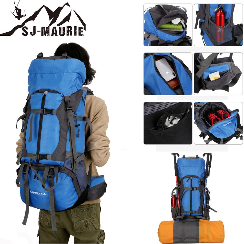 60L Backpack Cover Camping Hiking Bag Backpacks Mountaineering Travel Bag  With Backpack Waterproof Cover And Reflective Strip Dakine Backpacks Back  Pack ... 7f5dc03f6f