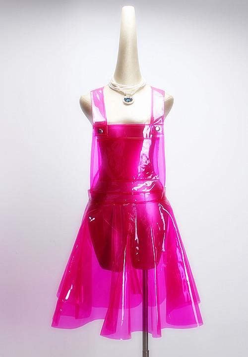 Pvc Vinly Plastic Overall Dress Summer Festival Rave Clothes Wear Outfits See Through Harajuku Dresses Q190521