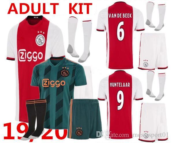 buy popular 441d3 a5110 2019 2020 NEW AJAX FC soccer jersey kits 19 20 ajaxa msterdam DE JONG TADIC  NERES camisa futebol 19/20 DE LIGT football shirt kit uniform