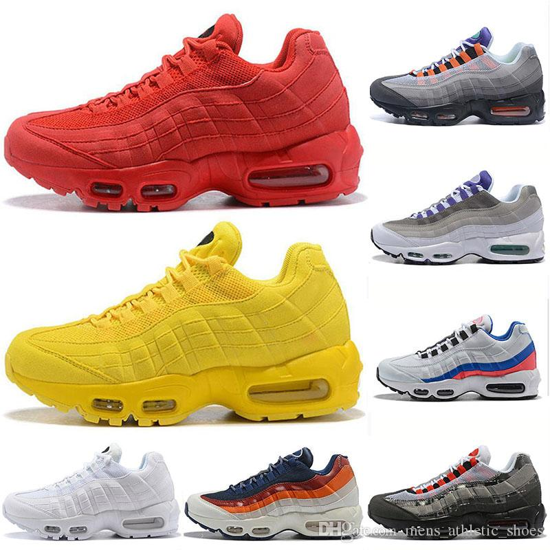 2019 95 95s Running Shoes Neon Grape Panache Greedy Red Yellow Women Shoes  Luxury Brand Men Trainers Designer Sneakers US5.5 11 From  Mens athletic shoes f375e89c2