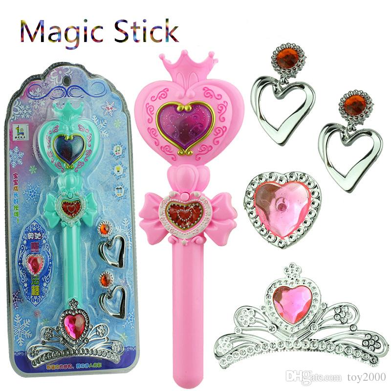Flashing Light Heart Moon Rod Sailor Moon Stick Anime Cosplay Prop Toys for Girls Musical Magic Glow Wand VS Bandai kids toys