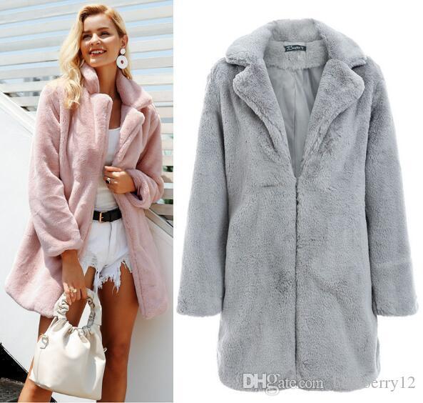 13935302b5b Femme Teddy Bear Coat XS 3XL Fluffy Lapel Neck Cozy Coats Women Winter  Outerwear White Jacket Denim Jackets From Prettyamazing