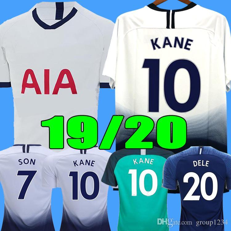 best service 283ab 846be TOP Thailand KANE spurs soccer jersey 2019 2020 LUCAS jerseys ERIKSEN DELE  SON 19 20 Football shirt kit Men uniforms maillot de foot