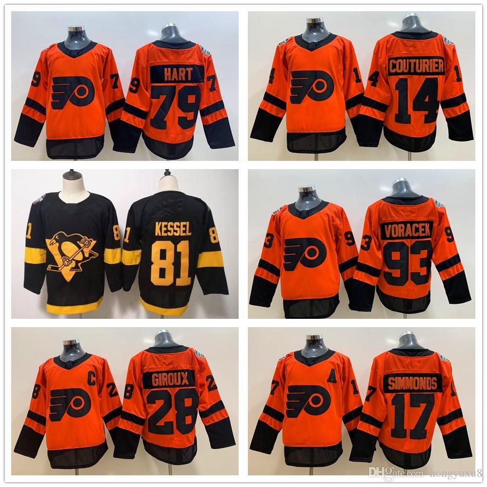 new product 4a18a 14b48 2019 Stadium Series Philadelphia Flyers Pittsburgh Penguins Jersey Sidney  Crosby Jake Guentzel Malkin Hornqvist Letang Giroux Hart Couturier