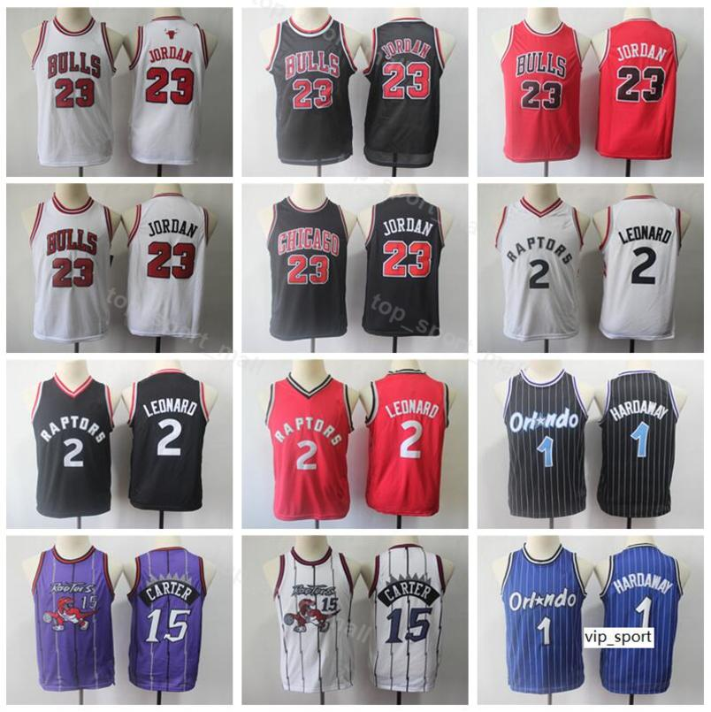 best sneakers 77460 97022 Youth Basketball Jersey Bulls Michael Raptors Kids Kawhi Leonard Vince  Carter Children Penny Hardaway Children Shirts Uniform