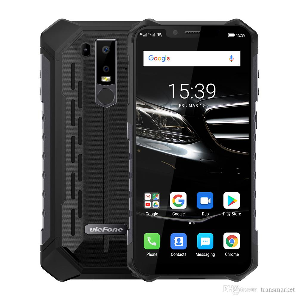 wholesale dealer 52109 e309d Ulefone Armor 6E IP68 Waterproof Mobile Phone Helio P70 4GB 64GB 6.2 19:9  FHD 5000mAh Android 9.0 Smartphone NFC Face Unlock