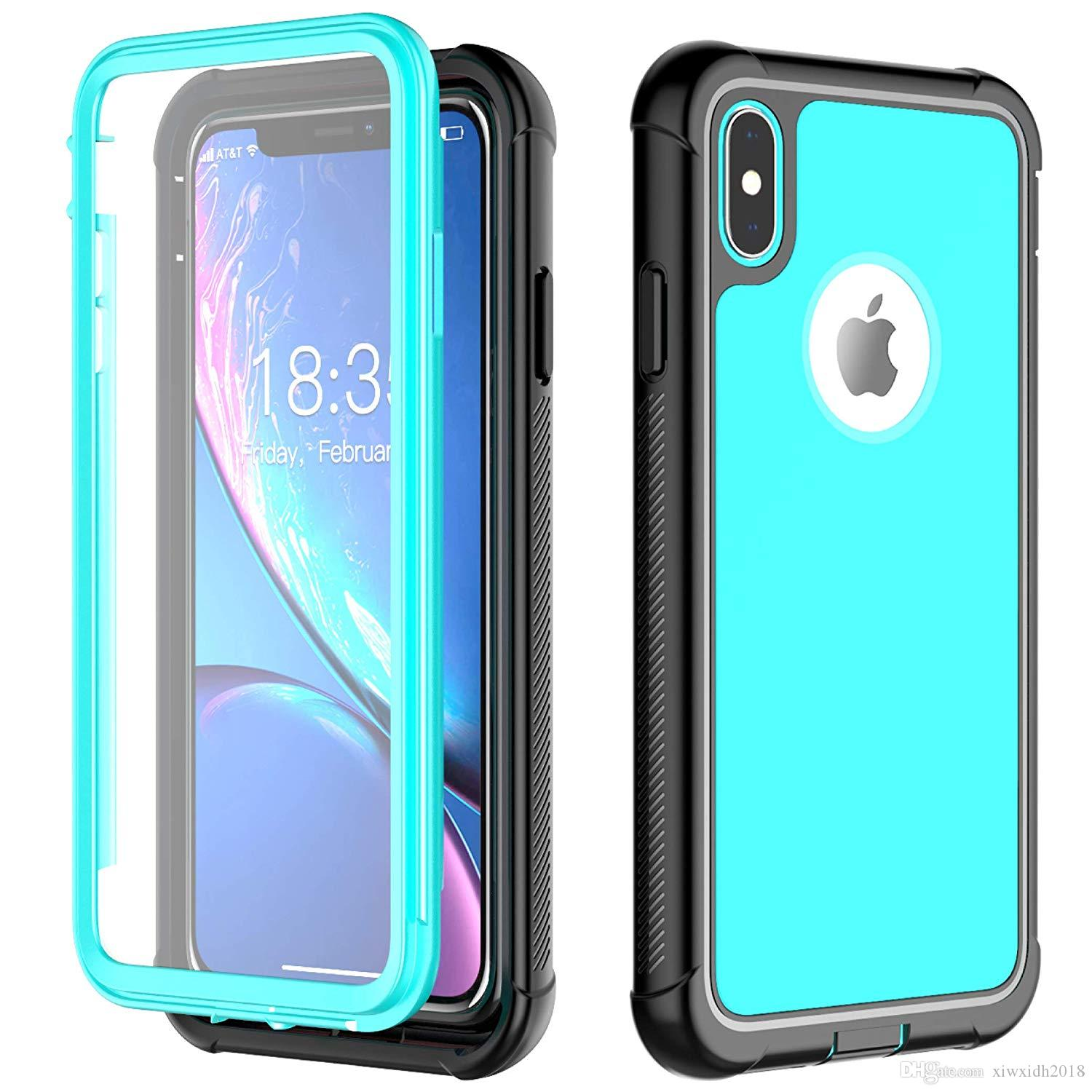 iphone xs max built in screen protector case