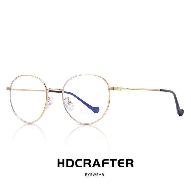 4a21847c9f6e 2019 Round Nerd Glasses Clear Lens Unisex Gold Round Metal Frame Glasses  Optical Men Women Eyeglass Frame Fake From Marquesechriss