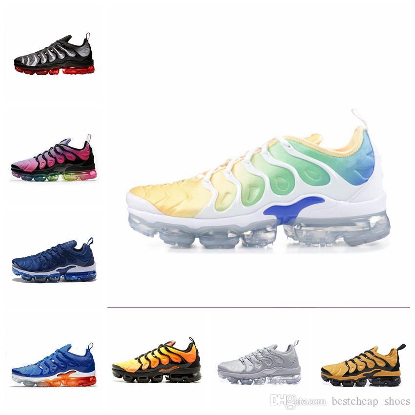 best service 177f1 32779 Nike Air Vapormax Plus 2019 New Air Vapors TN Plus TNs Zapatillas Para  Hombre Hyper Blue Rainbow Game Royal Smokey Malva STRING Maxes Sports Hombre  ...