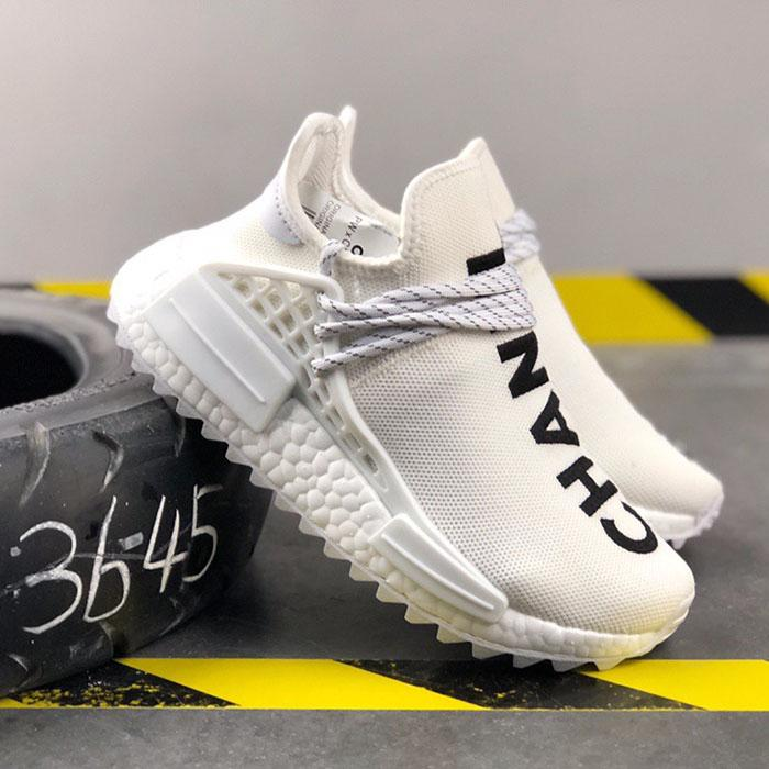newest ba2c5 0975b 2019 NMD Human Race Pharrell Williams Men Running famous brands Shoes PW HU  Holi Tie Dye Equality Designer women Sport Sneakers With Box N3