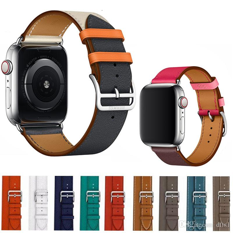 1e31a0089f96c5 for Apple Watch 40mm 44mm Band Bandkin Genuine Leather Single Tour Bracelet  Strap Smart Strap Leather Strap Apple Watch Band Online with $18.29/Piece  on ...