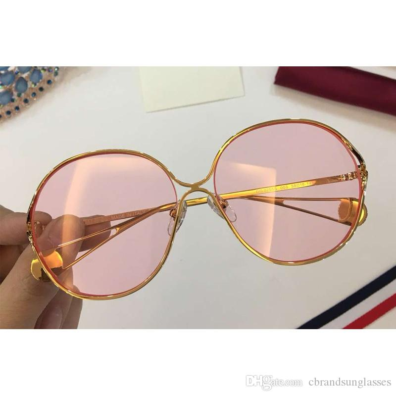 Eyewear Fashion For Outdoor Clear Color Frame Sunglasses 0255s Lens Brand Oversize Design Shadow Women Metal wkiOPXZTu