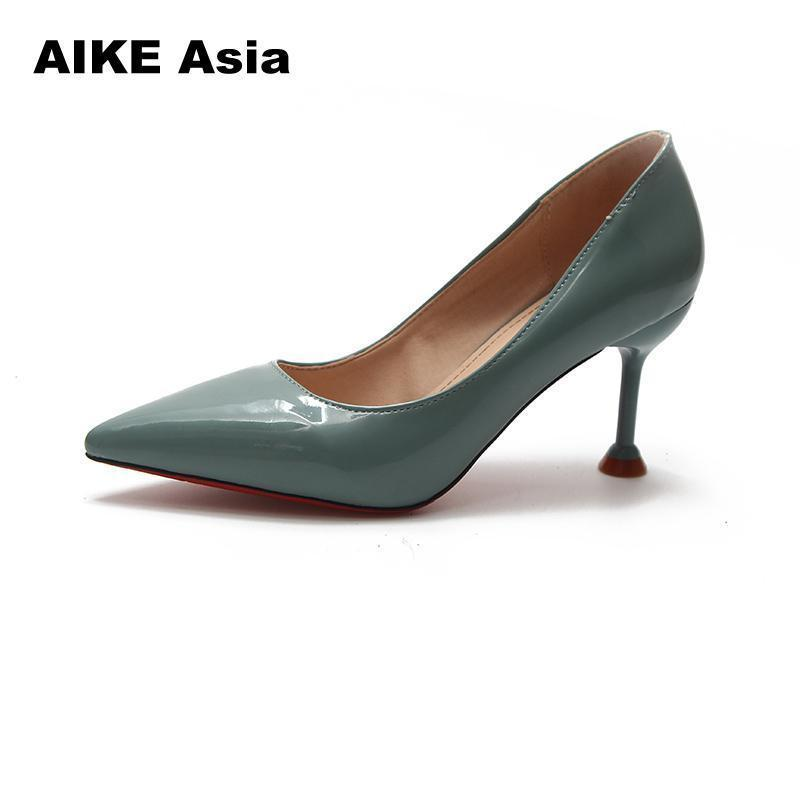 Shoes Women Pointed Toe Pumps Patent Leather Dress High Heels Boat Wedding  Zapatos Mujer Sexy Pumps Bridal Dansko Shoes Tennis Shoes From Deal00