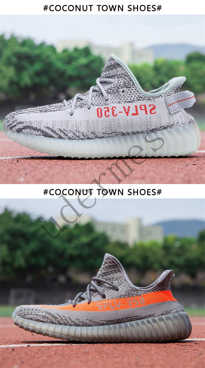 7300e8e5ca642 Kanye West Sply FUNWU Boost 350 V2 Female Models White Sesame Static ...