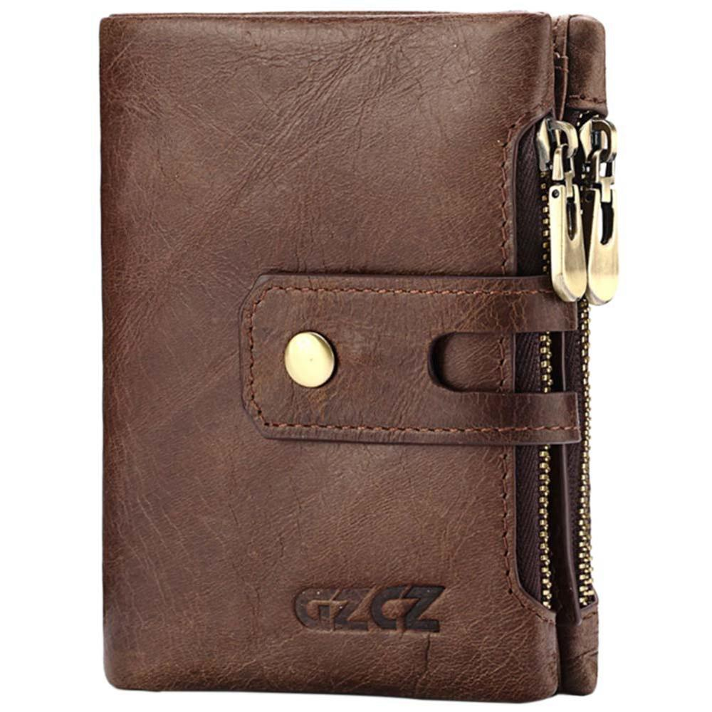 e84001403361 FGGS-Gzcz Genuine Leather Women Short Style Wallet New Design Vintage Purse  Hasp Walet Zipper Purses Card Holder