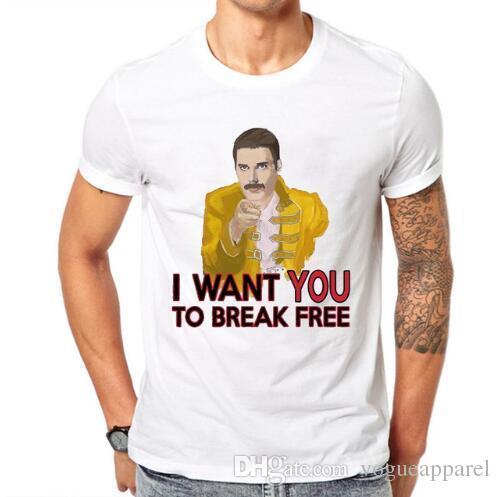 7d51e2290 Freddie Mercury The Queen Band T Shirt Mens Hip Hop Rock Hipster T Shirt  Casual Tshirts Harajuku Top Tees Fashion T Shirts Print Shirt From  Vogueapparel, ...