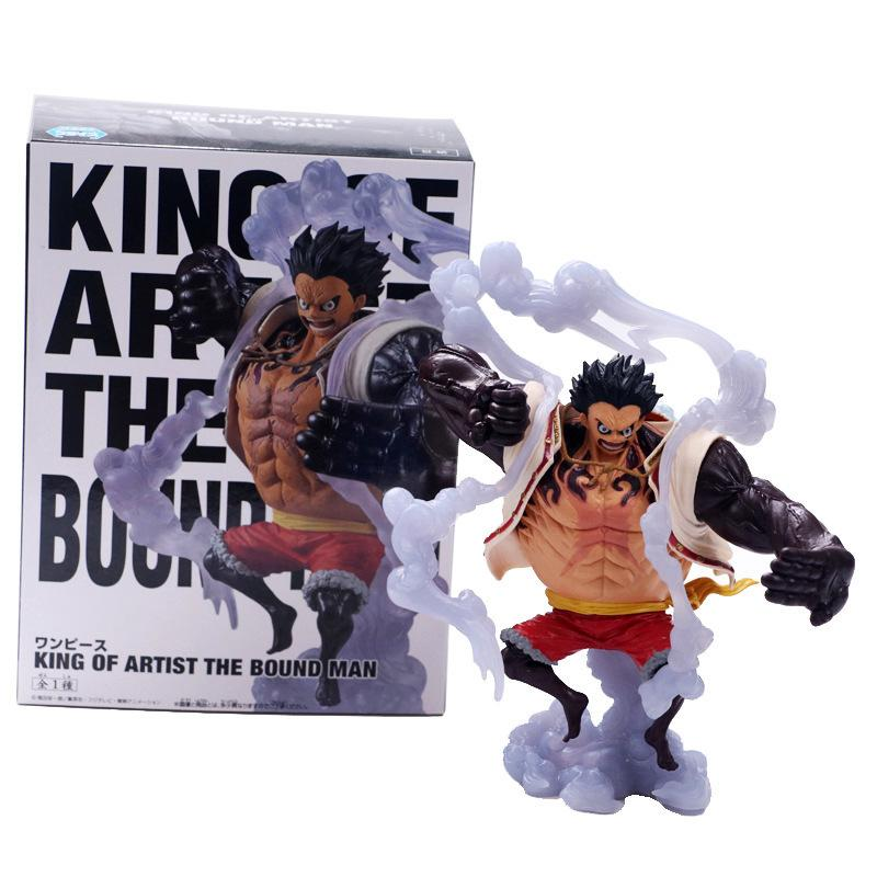 Action & Toy Figures One Piece Monkey D Luffy Gear Fourth 26cm Model Toys Collectible Anime Pvc Action Figure Children Birthday Gift