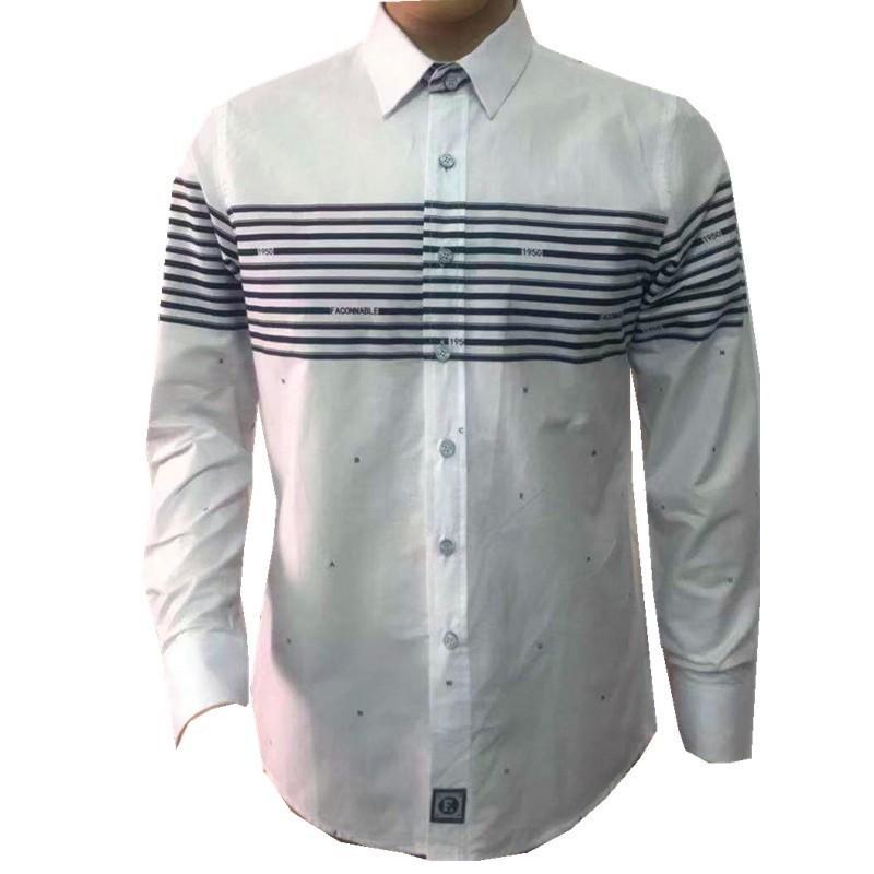 4e3003b1 2019 2019 New Fashion Faconnable Brand Camisa Masculina Long Sleeve Shirt  Men Slim Design Formal Casual Male Dress Shirt Size M 2XL From Afternan, ...