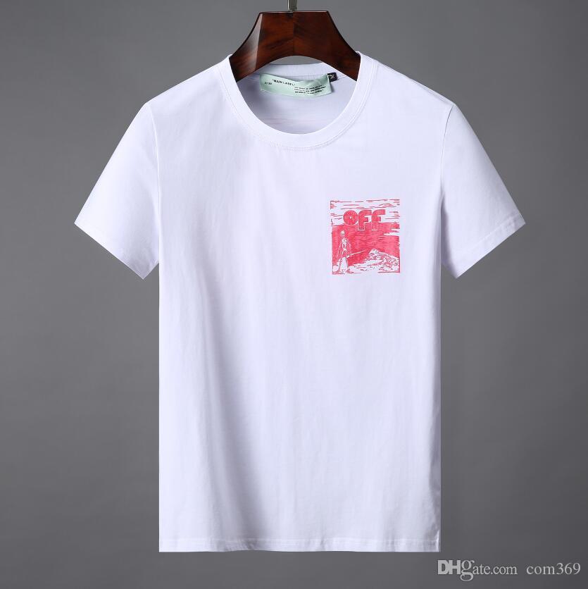 a493ee95f5dd Acquista Magliette Di Marca Uomo Donna Designer OFF Camicie Estate Casual  Coppia Uomo Abbigliamento Moda Allentata Marea Lettera Stampa Manica Corta  Tees A ...