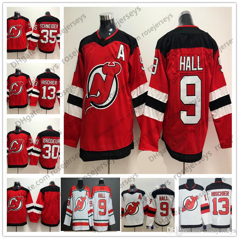 43442803443 2019 2019 New Jersey Devils White Green Third  13 Nico Hischier 9 Taylor  Hall 30 Martin Brodeur 35 Schneider Blank Red Cheap Hockey Jerseys From  Rosejerseys ...