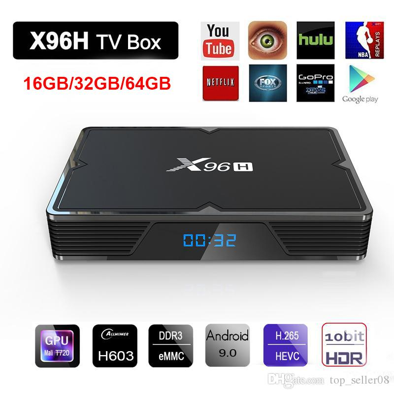 X96H Android 9 0 tv box Allwinner H603 2 4G 5G Wifi HDR 6K Streaming  Bluetooth 4 1 2 HDMI IN HDMI OUT