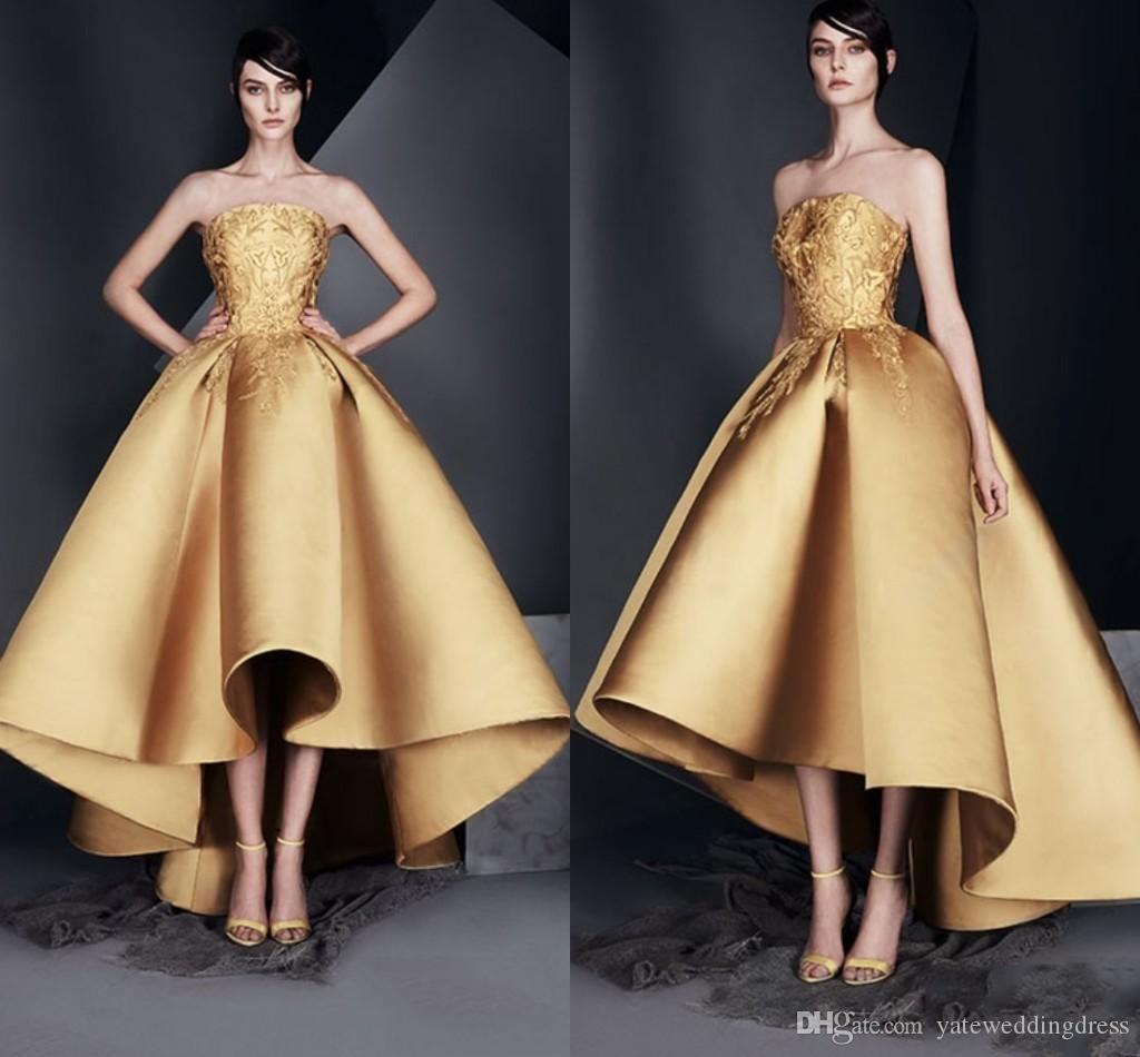 Gold Elegant cocktail dresses pictures