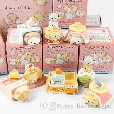 Hot Cute San-x Sumikkogurashi Corner Biological Action Figures In Box High Quality PVC Boys Girls Children Gift Collect Toy 8pcs/Lot