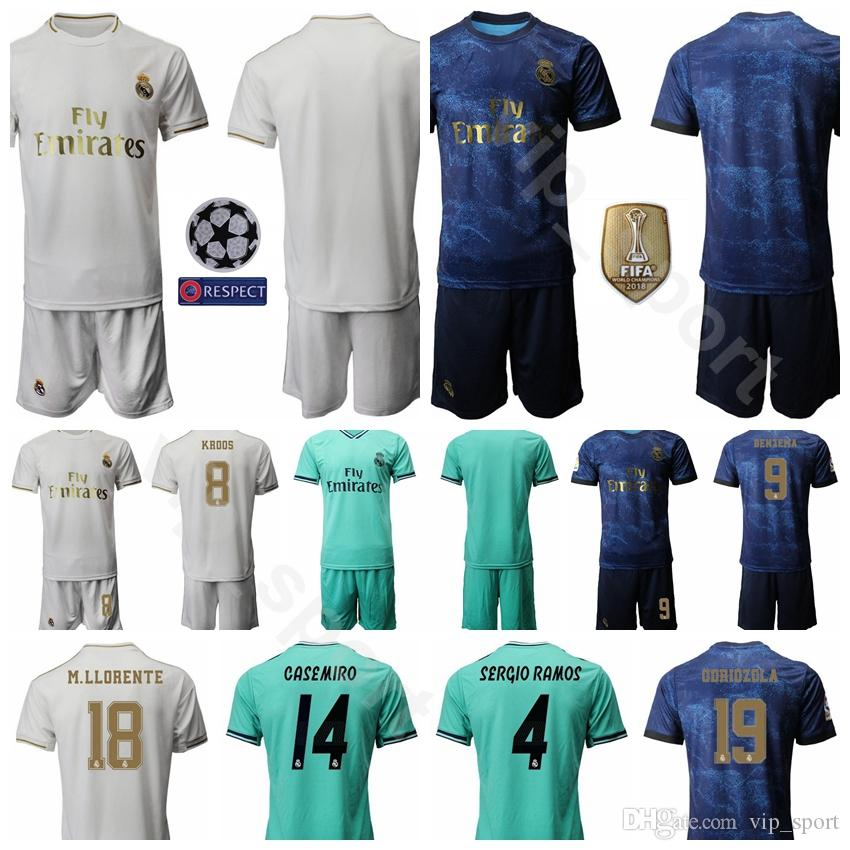 the latest 53da4 b421f 19/20 Men Soccer Real Madrid 10 Luka Modric Jersey Set 11 Gareth Bale 7  Eden Hazard 28 Vinicius Junior Football Shirt Kits