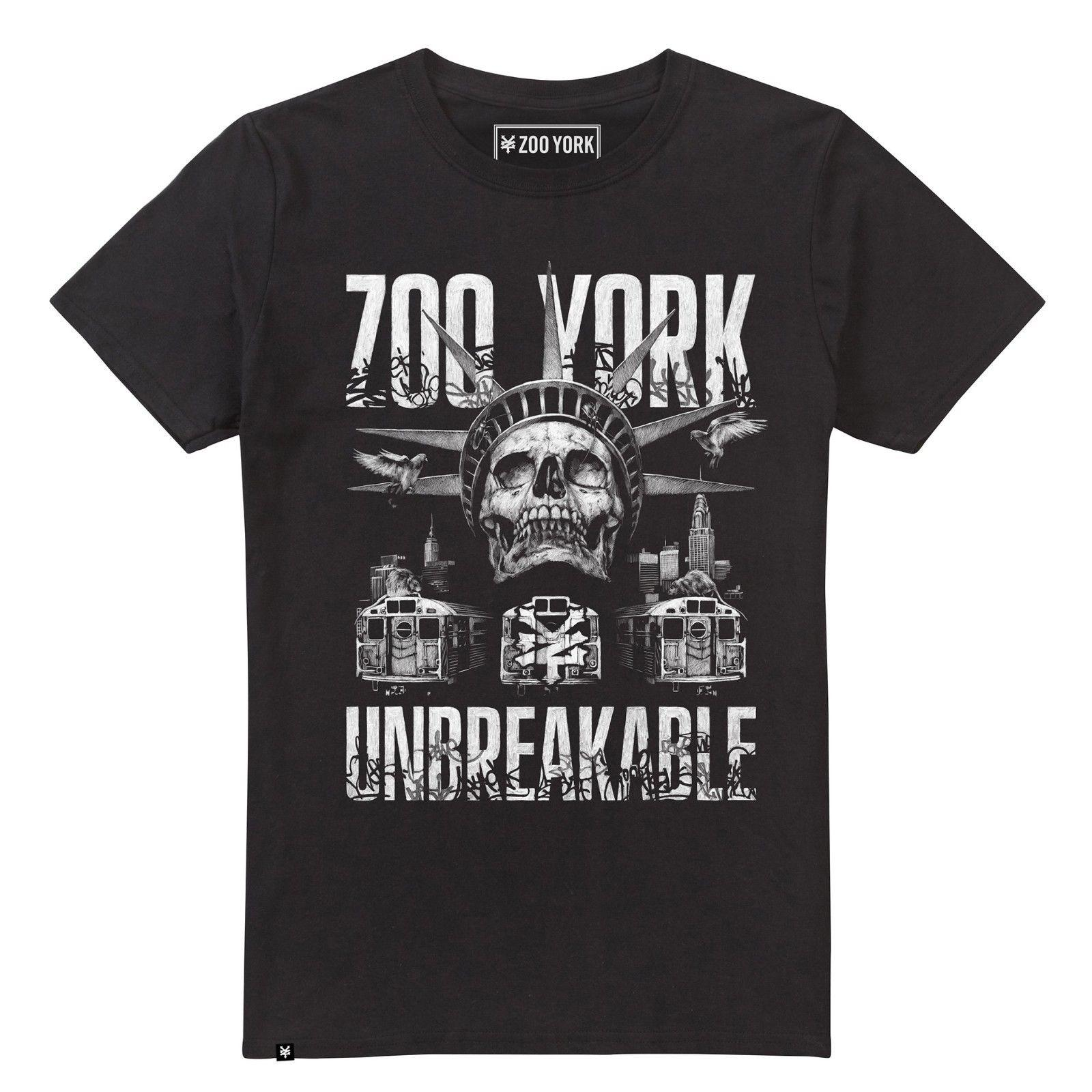 Zoo York Unbreakable Mens T-Shirt Skate Street Moda stile Divertente Tee Shirts Hipster O-Collo Cool Top Hip Hop Manica corta