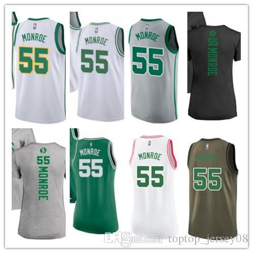SPORT Basketball Wear Youth women Men s Boston Celtic 55 Greg Monroe ... 78a0f7ae6