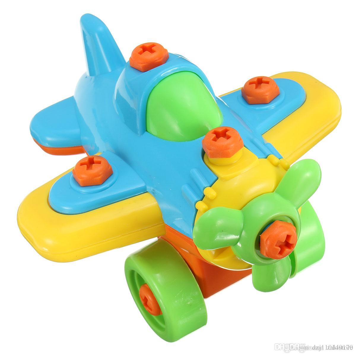 New DIY Disassembling Small Plane Building Blocks Children Assembled Model Tool clamp With Screwdriver Educational Toys